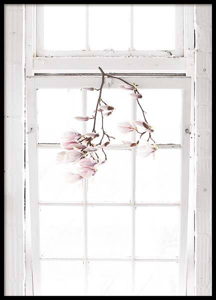 Flowers In The Window Plakat w grupie Plakaty / Fotografia w Desenio AB (10182)
