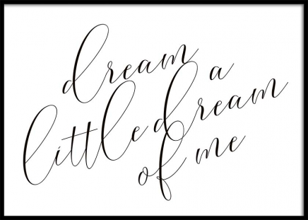 Dream A Little Dream Plakat w grupie Plakaty / Typografia w Desenio AB (10365)