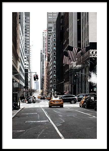 New York Street Plakat w grupie Plakaty / Studio Collections / Studio Cosmopolitan / New York w Desenio AB (11326)