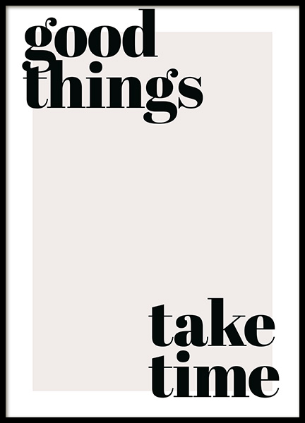 Good Things Take Time Plakat w grupie Plakaty / Plakaty z napisami w Desenio AB (13187)