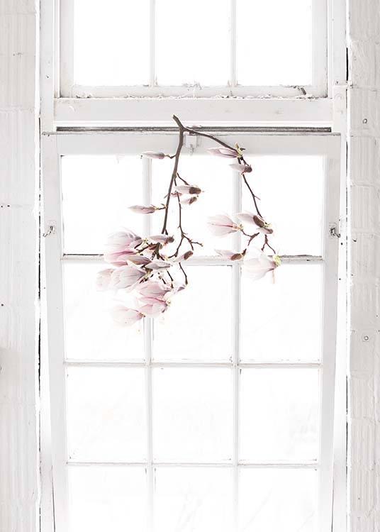 Flowers In The Window Plakat / Fotografia w Desenio AB (10182)
