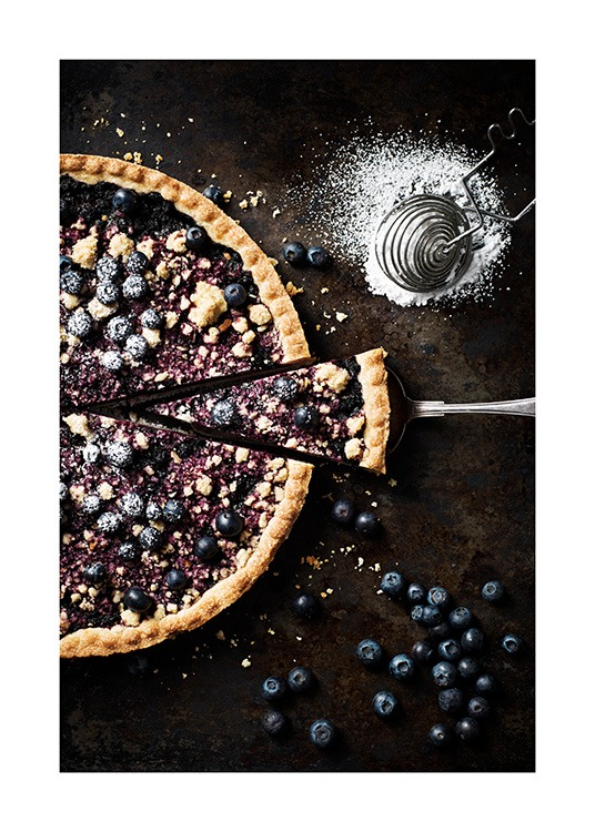 Blueberry Pie Plakat / Obrazy do kuchni w Desenio AB (11517)