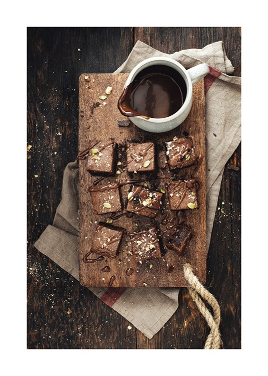 Chocolate Brownies Plakat / Obrazy do kuchni w Desenio AB (11827)