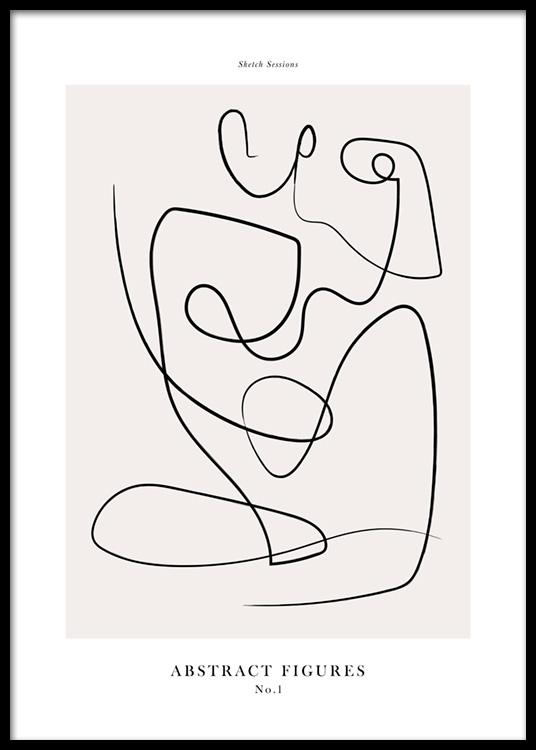 Abstract Figures No1 Plakat