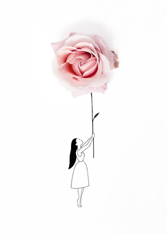 Rose Balloon Plakat / Plakaty dla dzieci w Desenio AB (12719)