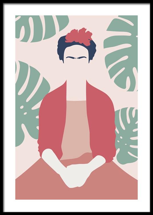Frida Kahlo Abstract Plakat