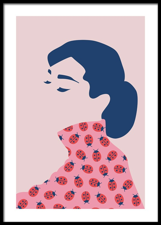 Audrey Hepburn Abstract Plakat