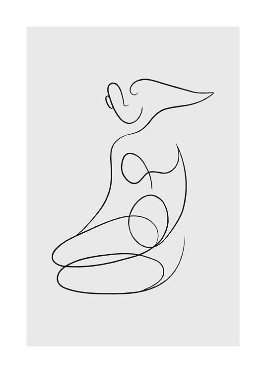 Abstract Femme Lines No1 Plakat / Line art w Desenio AB (13853)
