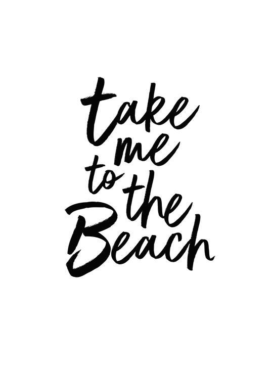 Take Me To The Beach  Plakat / Plakaty z napisami w Desenio AB (2253)