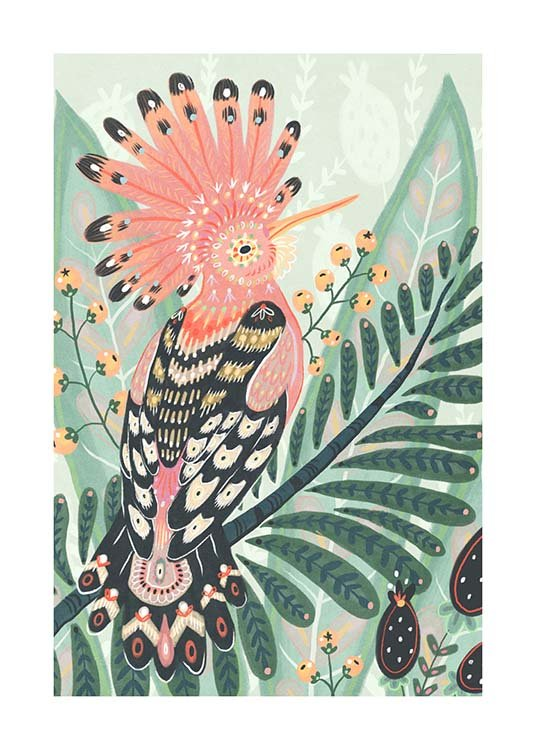 The Hoopoe Plakat / Sztuka w Desenio AB (3204)