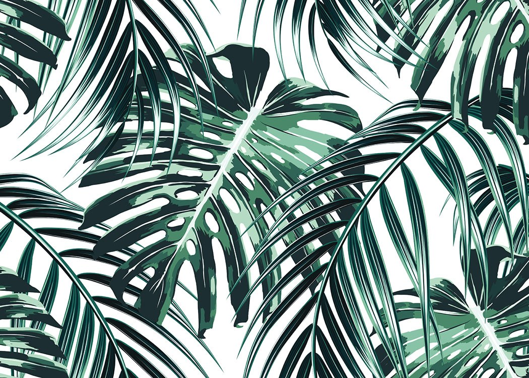 Tropical Leaves, Plakat / Sztuka w Desenio AB (8385)