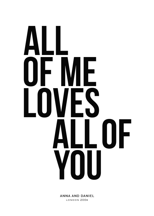 All of Me Personal Plakat / Plakaty personalizowane w Desenio AB (pp0001)